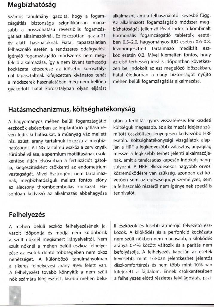 2. oldal - Megbízhatóság, hatásmechnanizmus, felhelyezés